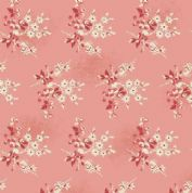 Makower UK - Little Sweetheart - 6077 - Fresh Berries Floral on Pink  - 8824_E - Cotton Fabric